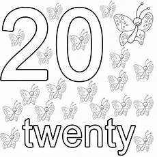 kostenlose malvorlage englisch lernen twenty zum ausmalen