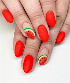 30 trendy watermelon nail art designs for summer xuzinuo