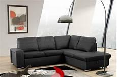 Sofa Mit Schlaffunktion Kaufen - schlafsofa sofa ecksofa eckcouch in schwarz mit