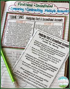 analyzing firsthand and secondhand accounts teaching