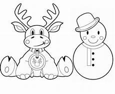Malvorlage Rentier Einfach Weihnachten Rentier Und Weihnachtsmann Zum Ausmalen