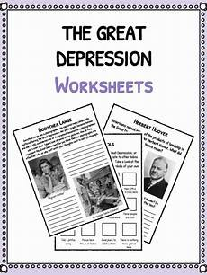 great depression worksheets middle school the great depression facts information worksheets for kids