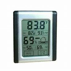 Touch Lcd Digital Wetterstation Hydrometer Thermometer