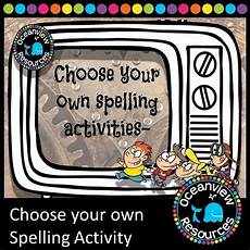 spelling worksheets using your own words 22514 choose your own spelling activity in 2020 spelling activities relief teaching ideas