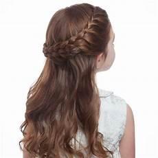 flower s braided half up half hairstyle martha - Kommunion Frisur Geflochten