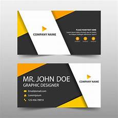 orange corporate business card template vector free