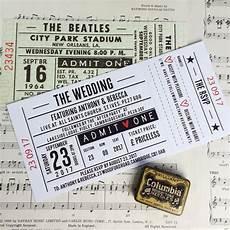 Ticket Invitations Wedding