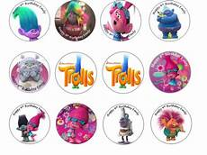 trolls edible cupcake toppers 12 for sale in dalkey dublin from flour power