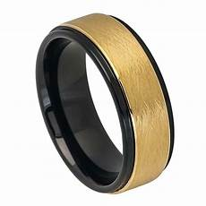8mm tungsten carbide men s gold plated and black finish wedding band ring sz7 12 ebay