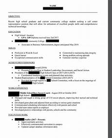please critique my first resume recent high school