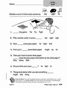 phonics i i igh y ie worksheet for 1st 2nd grade lesson planet