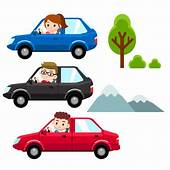 Man Woman Driving Different Cars Vector  Premium Download