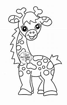 baby animal coloring pages free printable 17237 baby giraffe animal coloring page for baby animal coloring pages printables free wuppsy
