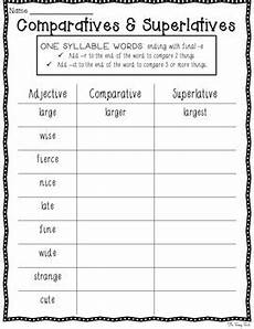 comparative and superlative adjectives 10 worksheets with answer keys
