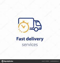 delai livraison oscaro 트럭 배달 기간 빠른 재활 서비스 운송 회사 로고 요소 배송 주문 하루 유통 라인 아이콘 스톡