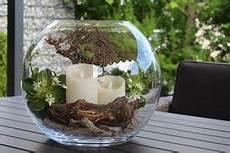 Dekorierte Glaskugel D 40cm Mit Deko Holz Echtwachs Led