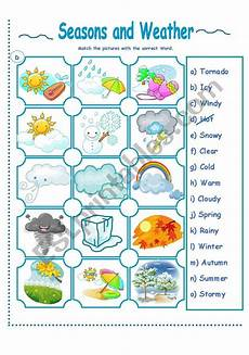 seasons time and weather worksheets 14867 seasons and weather activity esl worksheet by la