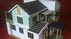 Cara Membuat Miniatur Rumah Dari Kertas Karton