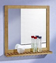 wandspiegel mit ablage 60x63 walnuss holz spiegel ebay