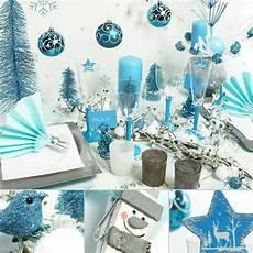 deco noel bleu et blanc 10m chemin de table gala blanc d 233 coration de table
