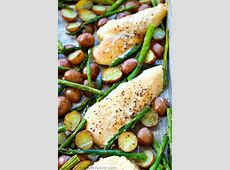 roasted chicken  new potatoes   asparagus_image