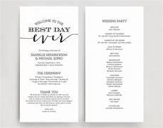 wedding programs wedding program instant download wedding program printable template instant