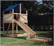 Kinderspielplatz Selber Bauen - i want to build this but with a plastic slide plan