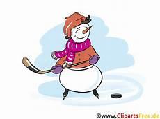 schneemann eishockeyspieler clipart bild grafik
