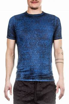 avant toi herren leinen t shirt blau luxuryloft
