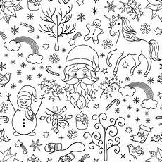 Ausmalbilder Weihnachten Muster Weihnachten Nahtlose Muster Stock Vektor Und Mehr
