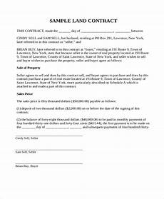 land contract templates 10 free printable word pdf formats