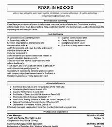 case manager objectives resume objective livecareer