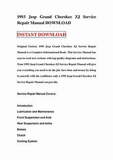 car repair manuals online pdf 1993 jeep grand cherokee on board diagnostic system 1993 jeep grand cherokee zj service repair manual download