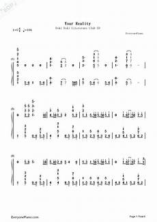 your reality literature club ed numbered musical notation preview