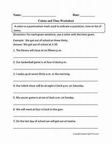 punctuation worksheets ks3 with answers 20814 8 best images of colon punctuation worksheets semicolons and colon s worksheet