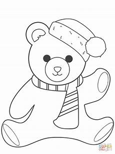 teddy coloring page free printable