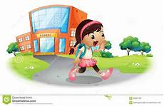 a cute student going home from school royalty free stock image image 33691796