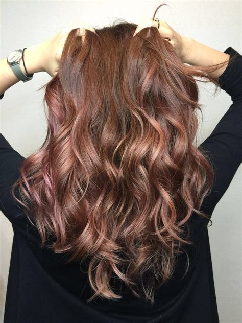 Chocolate Rose Gold Hair Color