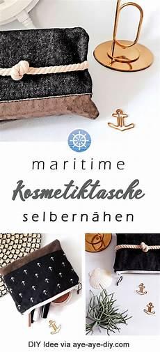 diy anleitung maritime diy und upcycling idee die maritime kosmetiktasche l 228 sst