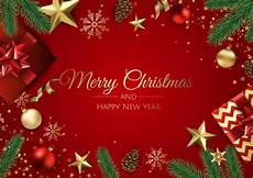 premium vector merry christmas and happy new year greeting card