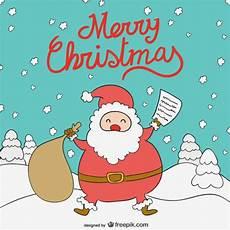 merry christmas santa claus cartoon free vector