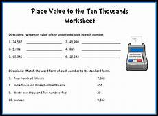place value worksheets to ten thousands 5287 printable worksheets activity pages for teachers with answer