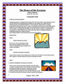 house of the scorpion lesson plans the house of the scorpion anticipation guide lesson plan
