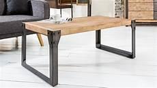 table basse metal table de salon design industrielle en bois et m 233 tal jorg