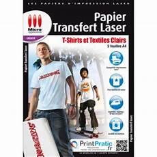 papier transfert t shirt 32706 micro application papier transfert laser textiles clairs papier pour imprimante achat prix