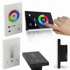 touch full color dimmer controller wall switch for single