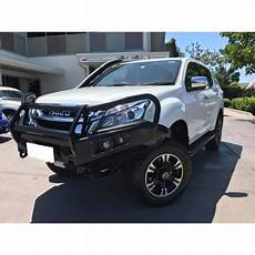 afn 4x4 front bullbar isuzu mux 2012 2016 complete with winch and fog light inserts