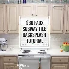 How To Paint Kitchen Tile Backsplash 30 Faux Subway Tile Backsplash Diy Hometalk