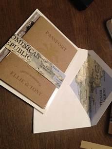 our diy kraft paper passport invites diy passport