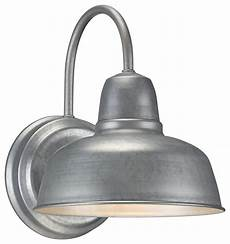 urban barn 11 1 4 quot high galvanized outdoor wall light farmhouse outdoor wall lights and sconces